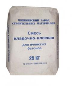 Смесь кладочно-клеевая для ячеистых бетонов  25 кг МЗСМ